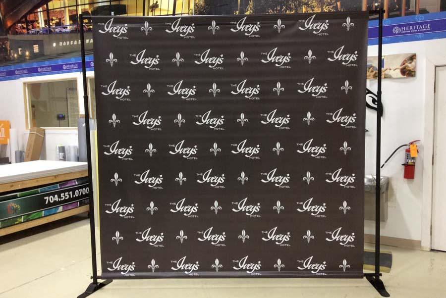 Step And Repeat Banner Stands Charlotte Custom Printed